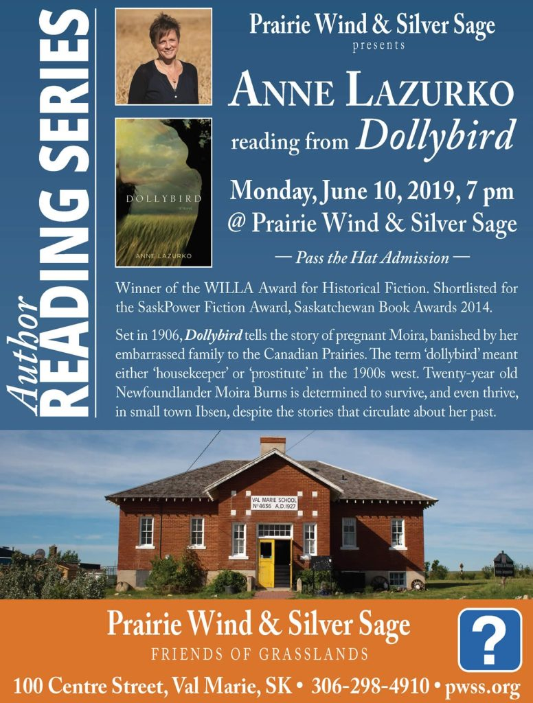 Author Reading: Anne Lazurko June 10 @ PWSS